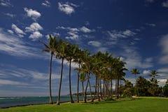 Escena de la playa de Kauai Fotografía de archivo libre de regalías