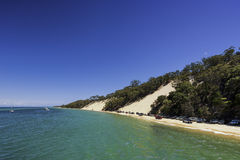 Escena de la playa de la isla de Moreton Imagen de archivo