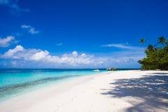 Escena de la playa de Maldives Imagen de archivo