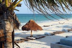 Escena de la playa de Mayakoba México Imagenes de archivo