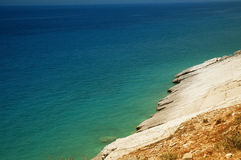 Escena de la playa en Albania Fotos de archivo libres de regalías