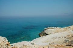 Escena de la playa en Albania Foto de archivo