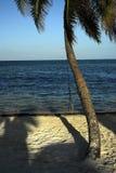 Escena de la playa en Belice Fotos de archivo libres de regalías