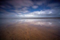 ¡Escena de la playa hacia el oeste Ho! Fotografía de archivo