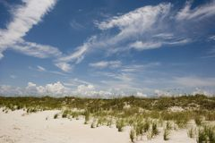 Escena de la playa horizontal Imágenes de archivo libres de regalías