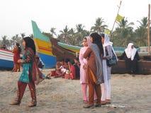 Escena de la playa, la India Fotografía de archivo