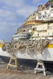 Escena de la playa, Positano, Italia fotografía de archivo libre de regalías