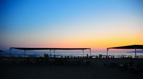 Escena de la puesta del sol imagen de archivo