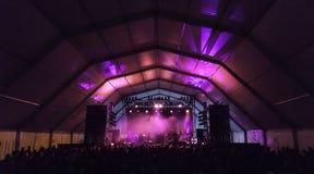 Escena de la roca del concierto Fotos de archivo