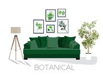 Escena de la sala de estar, vector, Foto de archivo