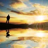 Escena de la salida del sol Fotografía de archivo libre de regalías