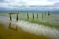 Escena de la tarde en el mar Foto de archivo