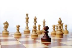 Escena de la tarjeta del juego de ajedrez Fotos de archivo libres de regalías