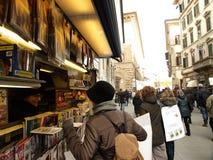 Escena de la vida de calles de Florencia Imagen de archivo