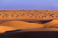 Escena de las dunas de arena Escena de las ondas de arena Escena caliente del desierto fotos de archivo libres de regalías