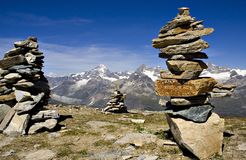 Escena de las montañas Imagen de archivo