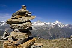 Escena de las montañas Imagen de archivo libre de regalías