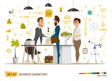 Escena de los caracteres del negocio Imagen de archivo libre de regalías