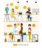 Escena de los caracteres del negocio stock de ilustración