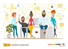 Escena de los caracteres del negocio Imagen de archivo