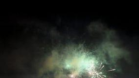 Escena de los fuegos artificiales almacen de video