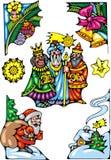 Escena de Navidad ilustración del vector
