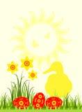 Escena de Pascua Foto de archivo