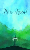 Escena de Pascua con la cruz Illustr del vector de Jesus Christ Watercolor libre illustration
