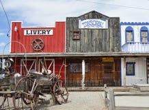 Escena de Route 66 en Seligman, Arizona Fotos de archivo