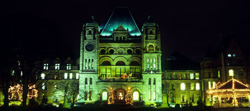 Escena de un edificio en Toronto, Ontario de la noche Fotografía de archivo libre de regalías