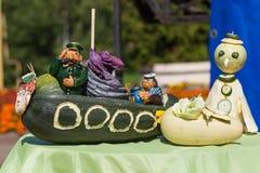 Escena de verduras en la feria en Uglich, Rusia Imagen de archivo libre de regalías