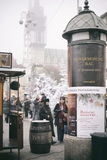 Escena del advenimiento en Zagreb, Croacia Fotografía de archivo libre de regalías