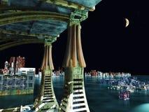 Escena del Armageddon en ciudad Imagen de archivo libre de regalías