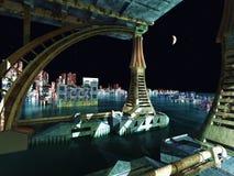 Escena del Armageddon en ciudad Fotografía de archivo libre de regalías