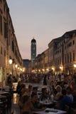 Escena del café en Dubrovnik Fotografía de archivo