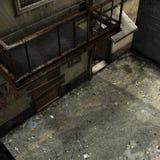 Escena del callejón del callejón sin salida libre illustration