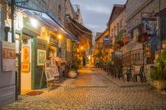 Escena del callejón, Safed (Tzfat) Imagen de archivo libre de regalías