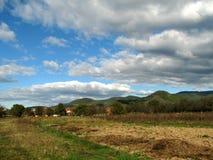 Escena del campo del otoño foto de archivo
