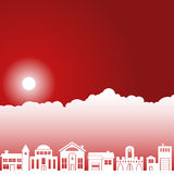 Escena del cielo del día - vecindad Imágenes de archivo libres de regalías