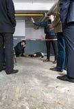 Escena del crimen Foto de archivo