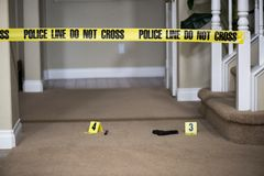 Escena del crimen Foto de archivo libre de regalías