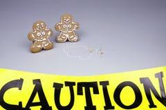 Escena del crimen de la Navidad Foto de archivo libre de regalías