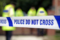 Escena del crimen de la policía imagen de archivo libre de regalías