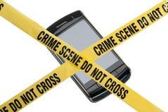 Escena del crimen del teléfono Imágenes de archivo libres de regalías
