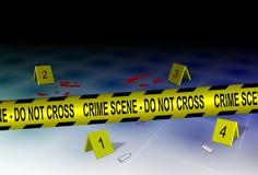 Escena del crimen y evidencia ilustración del vector