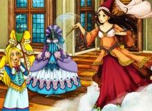 Escena del cuento de hadas de la historieta para diversas historias Imagen de archivo libre de regalías