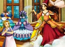 Escena del cuento de hadas de la historieta para diversas historias Fotografía de archivo libre de regalías