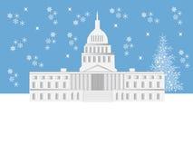 Escena del día de fiesta del Washington DC stock de ilustración