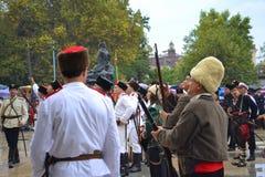 Escena del día de la unificación de Plovdiv Fotografía de archivo libre de regalías