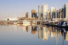 Escena del día de Vancouver céntrica Fotografía de archivo